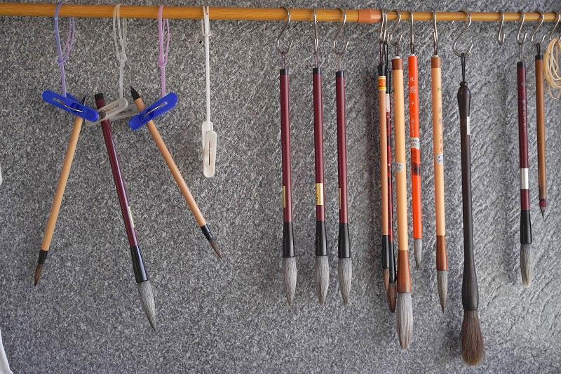 かんめい書道教室 道具はフリーレンタル